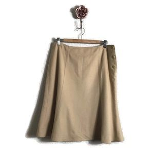 Talbots Collection Wool Rabbit Hair Camel Skirt
